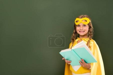 superhero girl with book