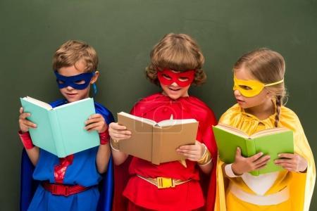 superheroes reading books