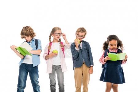 Multiethnic schoolchildren with books