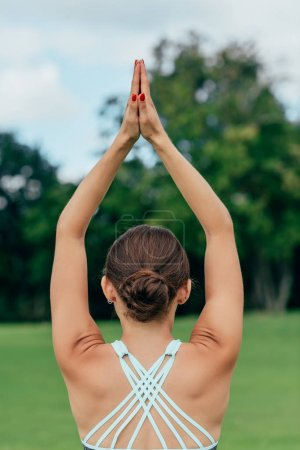 Woman practicing yoga pose