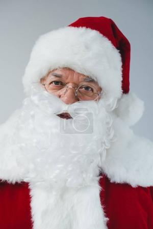 santa claus in hat and eyeglasses