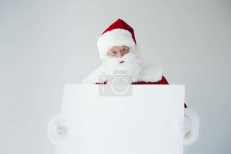 santa with blank banner