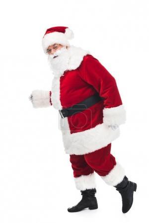 Santa claus walking