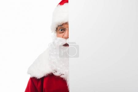 santa claus with blank card