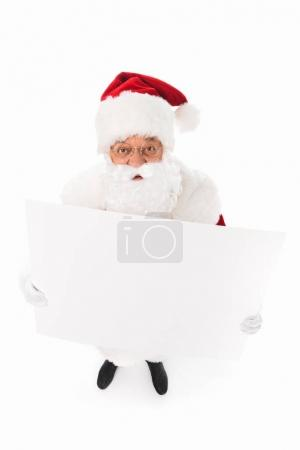 Santa claus with blank card