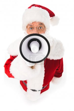 santa claus with megaphone