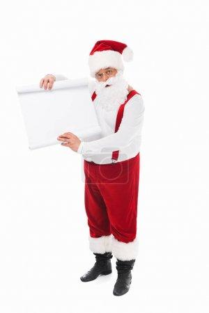 santa claus with wish list