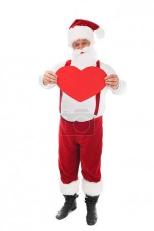 santa holding heart symbol