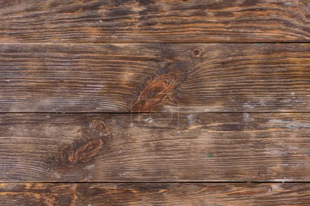 Photo for Horizontal rustic wooden texture with planks - Royalty Free Image