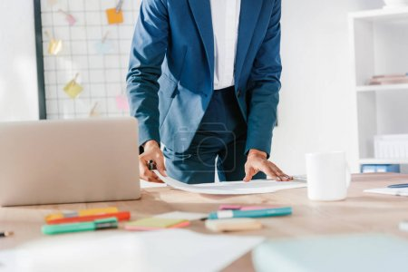 businesswoman working with papers