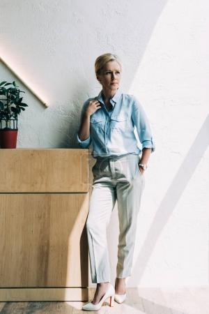 stylish mature woman
