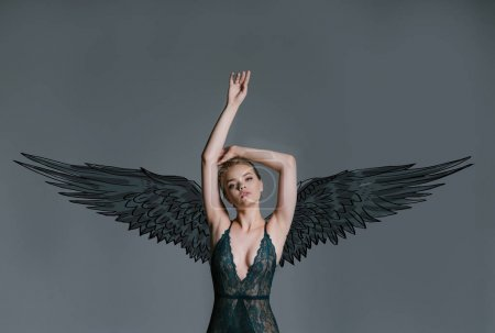 young girl dark angel