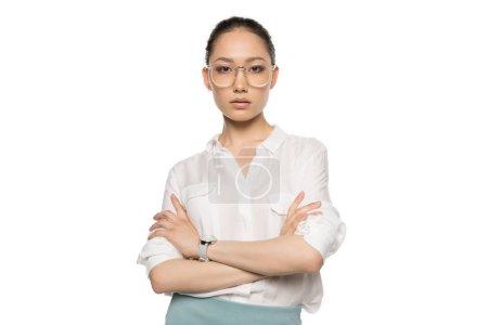 gorgeous asian woman in eyeglasses