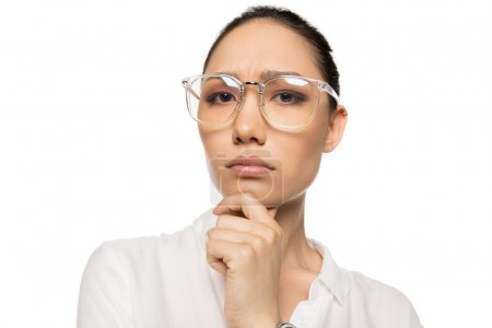 Asian woman in eyeglasses