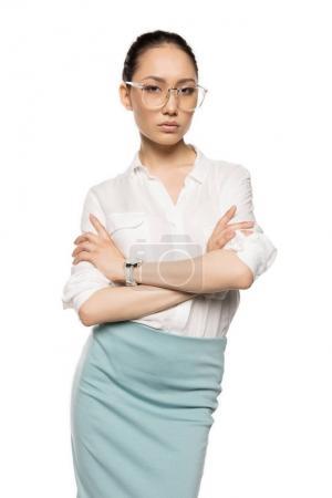Confident asian woman