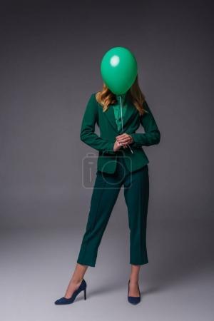 stylish girl with balloon