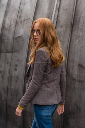 stylish redhead girl