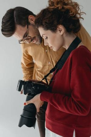 photographer and stylish model