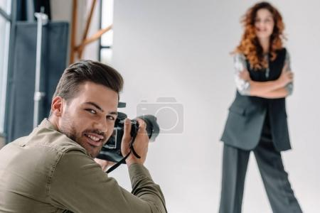 professional photographer on fashion shoot