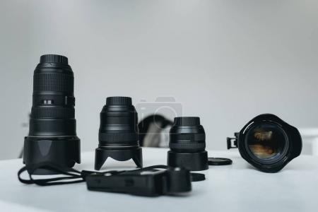 lenses and light meter