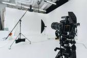 digital camera in photo studio
