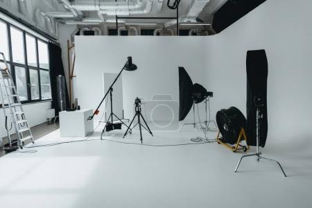Photo studio with digital camera