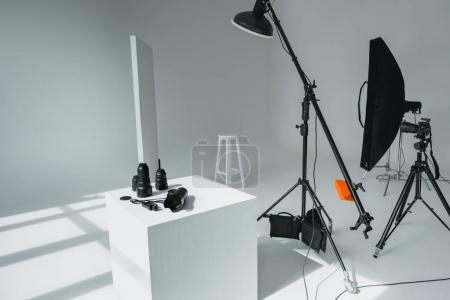 digital equipment in photo studio