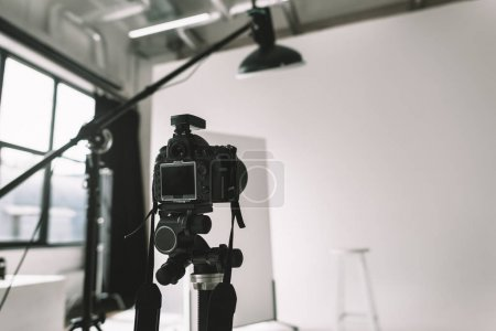 digital camera in photo studio