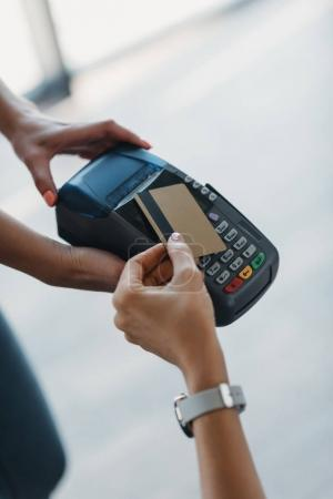 Payment with credit card and terminal