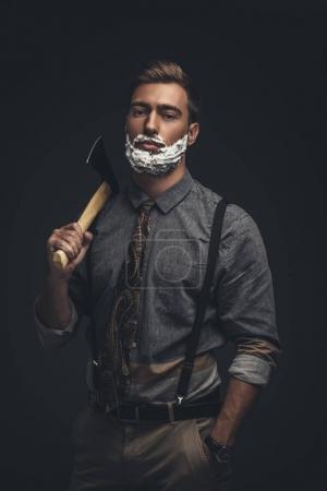 Man holding axe