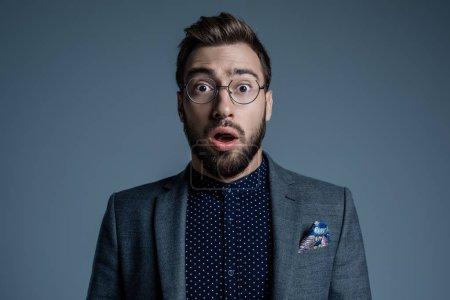 Surprised man in suit
