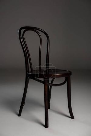 Photo for Simple wooden chair, isolated on grey - Royalty Free Image