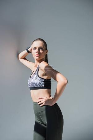 confident sportswoman