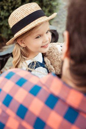 little child in straw hat