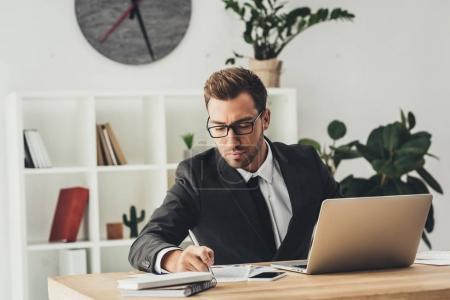 businessman working in modern office