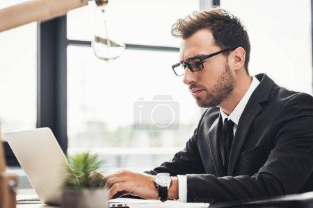 Focused businessman