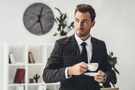 businessman with cup of coffee