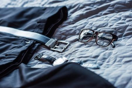 Formal attire on bed