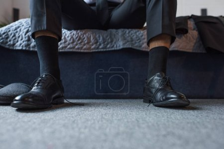 Man in leather shoes