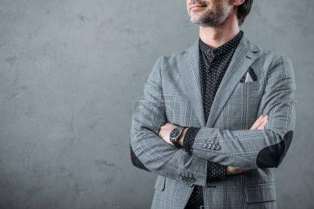 stylish businessman with wristwatch