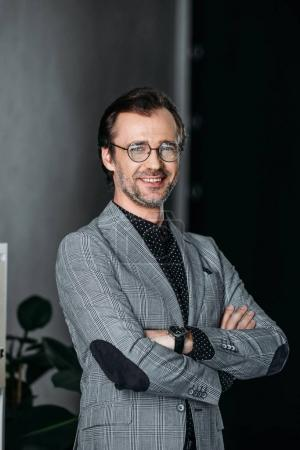 confident middle aged businessman