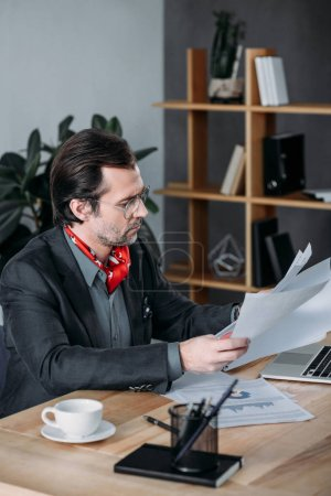 businessman working with papers