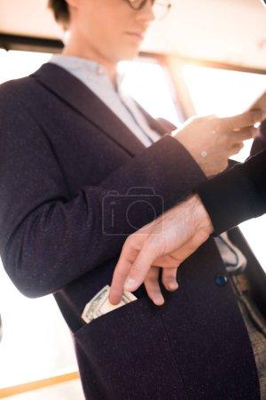 stealing money in public transport