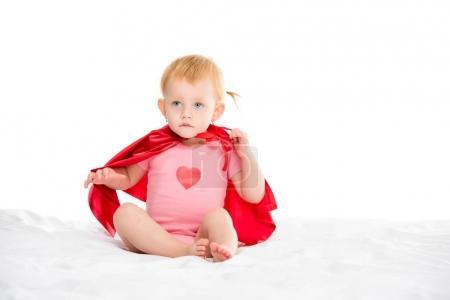baby in superhero cape