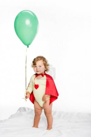 adorable toddler with balloon