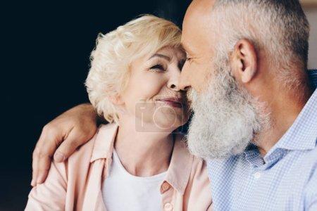 sensual elderly couple