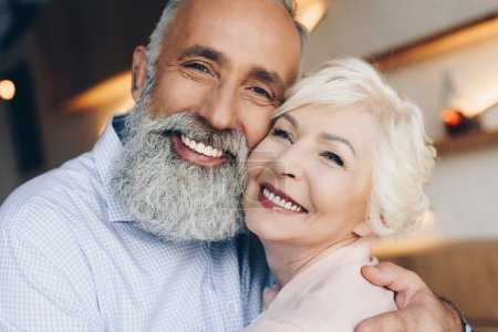 Photo for Portrait of beautiful smiling senior husband and wife - Royalty Free Image