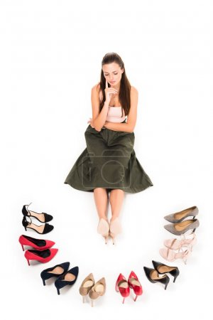 woman and fashionable high heels