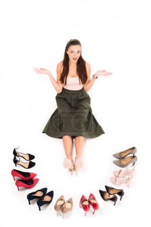 woman and fashionable high heels