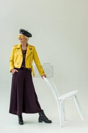 fashionable senior woman